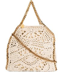 stella mccartney falabella crochet tote - neutrals