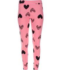 pantalón descanso corazones color rosado, talla l