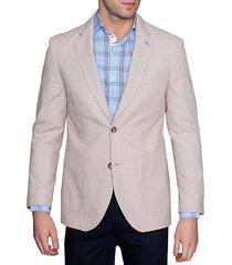 standard-fit cotton dobby jacket