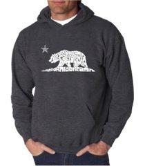 la pop art men's california dreamin word art hooded sweatshirt