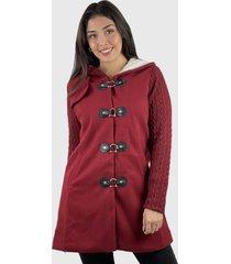 abrigo algodón y lana mujer hippie rojo enigmática boutioque