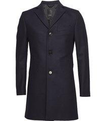 wolger compact melton outerwear coats wool coats blauw j. lindeberg