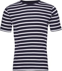 breton striped shirt morgat t-shirts short-sleeved blå armor lux