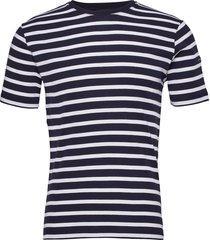 breton striped shirt morgat t-shirts short-sleeved blå armor lux