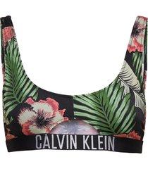 cut out bralette-print bikinitop multi/mönstrad calvin klein