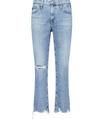 light distressed flared jeans