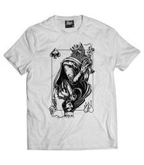 camiseta skull clothing king and queen masculina