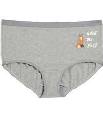 lane bryant women's cotton full brief panty 34/36 fox