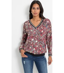 blouse met paisleyprint