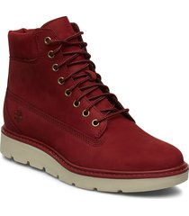 kenniston 6in lace up shoes boots ankle boots ankle boots flat heel röd timberland