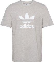 adicolor classics trefoil t-shirt t-shirts short-sleeved vit adidas originals