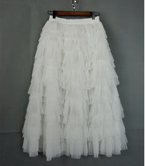 white layered full maxi tulle skirt white boho wedding bridal bridesmaid outfit