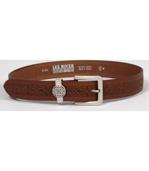 men's agar celtic leather belt brown l