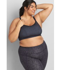 lane bryant women's livi wicking low-impact no-wire sport bra - strappy back 10/12 super texture