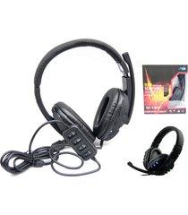 auriculares profesionales boas audífonos con micrófono gamer usb led