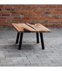stolik kawowy live edge z żywicą 87x67 cm