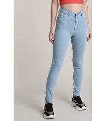calça jeans feminina sawary cigarrete azul claro