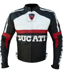 men mens ducati black leather motorcycle motorbike biker armour jacket