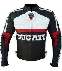 men mens ducati black leather motorcycle motorbike biker armour jacket