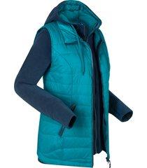 gilet funzionale 3 in 1 con giacca in pile (blu) - bpc bonprix collection
