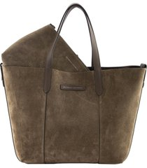 brunello cucinelli shopper bag reversible calfskin large shopper bag with monili