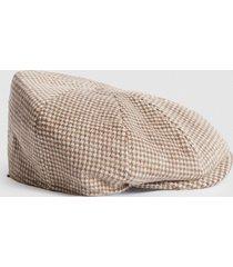 reiss spencer - christys' baker boy cap in oatmeal, mens, size m/l