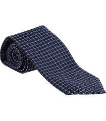 ermenegildo zegna blue silk tie
