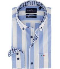 gestreept overhemd portofino blauw wit