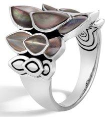 women's john hardy legends naga mother-of-pearl saddle ring