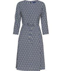 d1. autumn print dress jurk knielengte blauw gant