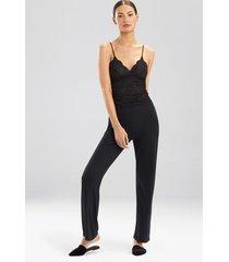 loren cami pajamas, women's, black, size s, josie natori