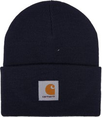 carhartt blue logo patch beanie