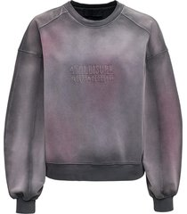 alberta ferretti grey cotton jersey sweatshirt
