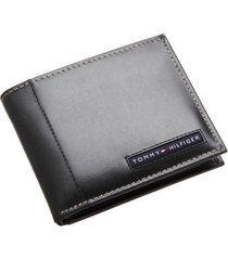 tommy hilfiger men's leather credit card documents wallet bifold black 5675-01