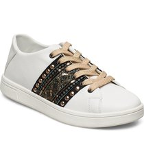 shoes cosmic exotic gol låga sneakers vit desigual shoes