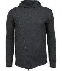 daniele volpe casual hoodie grijs