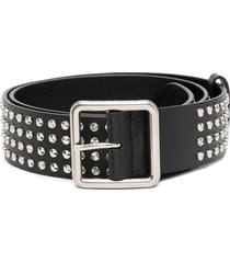 alexander mcqueen wide studded belt - black