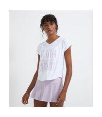 camiseta esportiva sem cava estampa frase | get over | branco | m