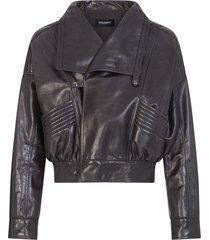 dolce & gabbana wraparound long-sleeve jacket - black