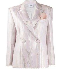 atu body couture quartz boyfriend blazer - pink