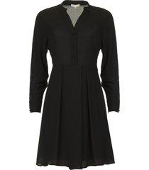 jurk met franjes ozena  zwart