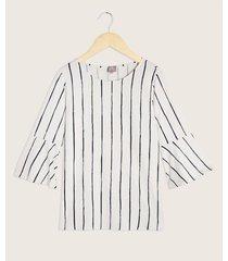 camiseta manga 3/4 escote redondo estampada
