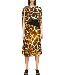 roberto cavalli dress roberto cavalli jersey dress with giraffe print