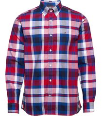 flex bright midscale check shirt overhemd casual multi/patroon tommy hilfiger
