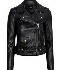 skinnjacka objnandita leather jacket