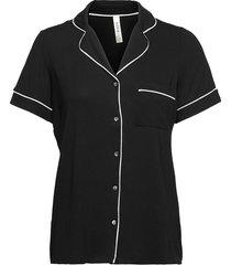 pyjama shirt jersey cissi top svart lindex