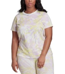 adidas originals plus size tie-dyed t-shirt