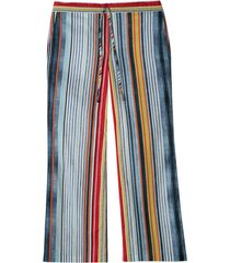 bedrukte broek, blauw gestreept 40