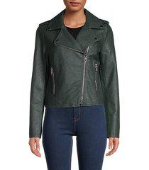 ivanna vegan leather moto jacket