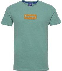 cl workwear tee 220 t-shirts short-sleeved grön superdry